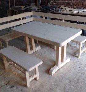 Комплект стол и лавка