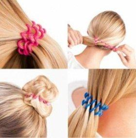 Набор резинок-пружинок для волос (силикон) из 10 ш
