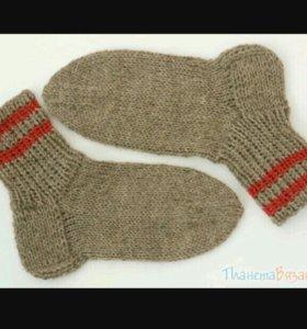 Шерстяные носки на заказ