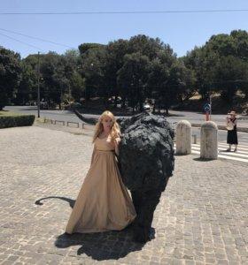 Пышное платье с Фатиновым под'юбником