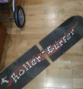 Скейтборд роллерсерф roller surfer б/у
