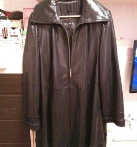 Пальто-плащ (кожа)52-54