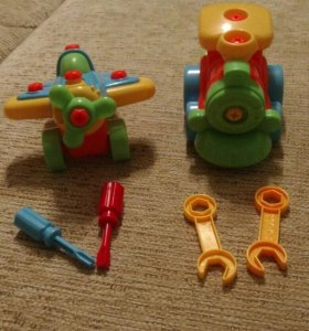 Конструктор машинка (паровоз и самолет).