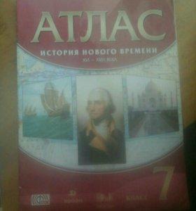 Атлас по Истории Всеобщей (нового времени) 7 класс