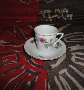 Чашки с блюдцем кофейные