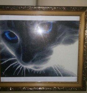 Картина в стиле алмазной вышивки