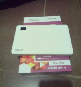 Портативный Power bank Dexp Slim XXL 20000 MAh