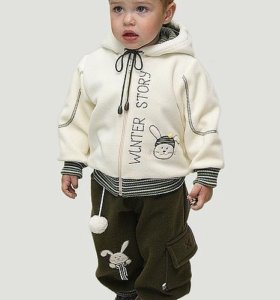 Новый костюм для мальчика. Ткань-полартек.