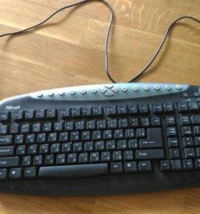 Клавиатура trust и компьютерная мышь