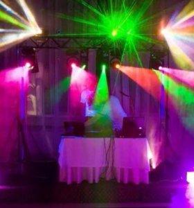Музыка, световое и лазерное шоу на праздники