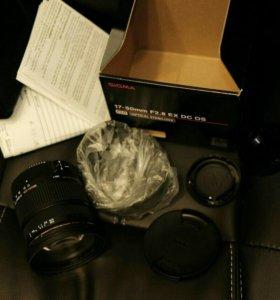 Nikon d90. + бат блок + sigma 17-50 2.8