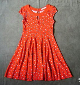 Красное платье в стиле ретро Oasis S вискоза