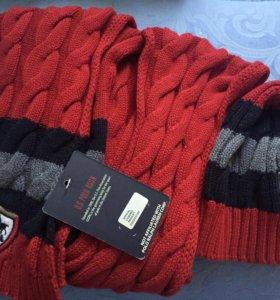 Новые шапка и шарф (комплект) US Polo Assn