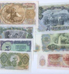 Банкноты Болгарии, комплект 7 шт. UNC.1951 год