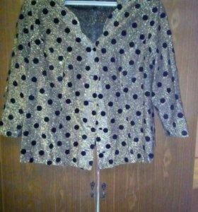 Блузка, ткань люрекс