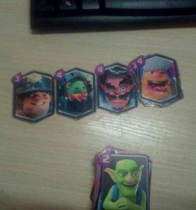 Карточки из игры clash royale