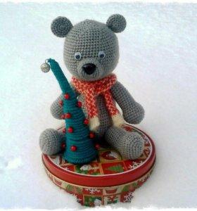 Рождественский медведь (ручная работа)