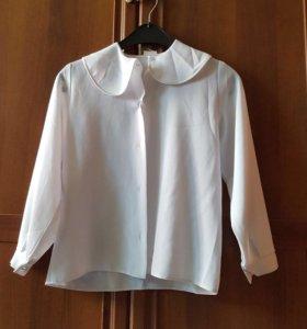 Блузка  школьная для девочки б/у