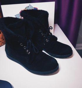 Зимние ботиночки замшевые