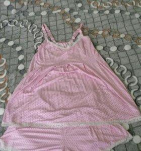 Пижама с шортами для будущей мамы