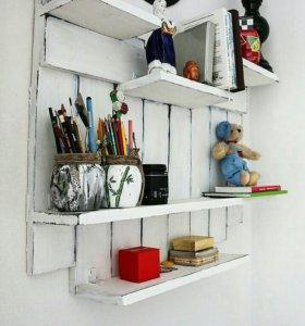 Полка настенная для фотографий,сувениров,книг