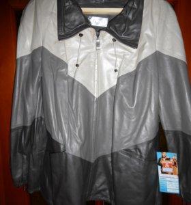 Женская кожанная куртка