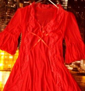 Сорочка с пеньюаром 42 размера
