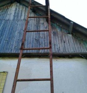 Лестница длинная 6 м металлическая.Ахтырский