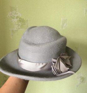 Шляпа из шерсти с бантом
