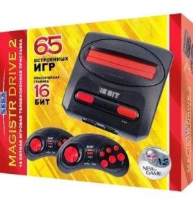 Sega Magistr Drive 2 lit + 65 игр