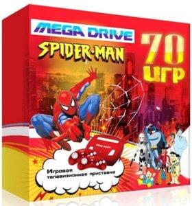 Sega Mega Drive Spider Man + 70 игр
