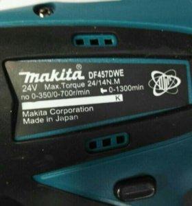 Макита новый шуруповерт батарейки 24вольта