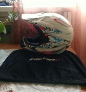 Кроссовый мото шлем
