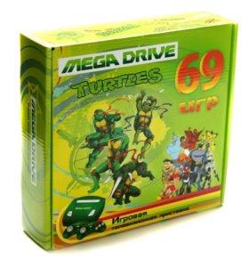 Sega Mega Drive Turtles + 69 игр