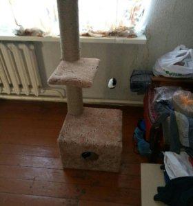 Домик, когтеточка для котов и кошек