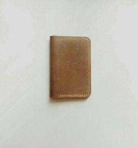 Обложка на паспорт, из натуральной кожи