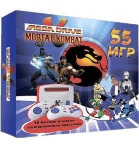 Sega Mega Drive Mortal Kombat + 55 игр