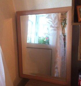 Зеркало 55/75, рама 5 см