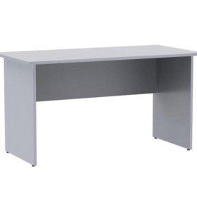 Стол письменный под серебро, рабочий, большой