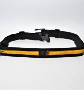 Спортивный пояс-сумка ПС-2 (желтый)