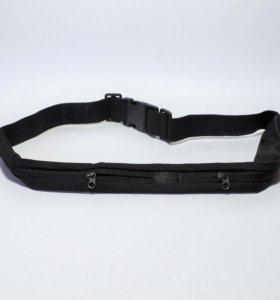 Спортивный пояс-сумка ПС-2 (черный)