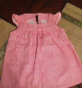 Платье детское красно-белое