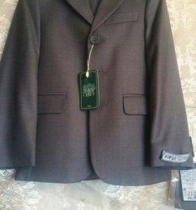 Пиджак школьный ( серый)