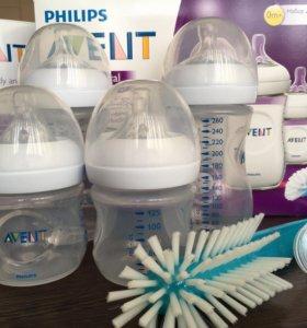 Новый набор бутылочек Avent Natural