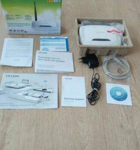 Wifi роутер фирмы TP-LINK. Модель TL - WR740N