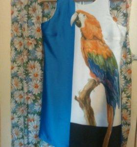 Платье шелковое. Размер 42.