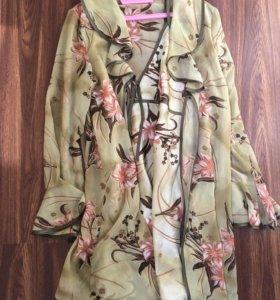 Комплект, сорочка+халат