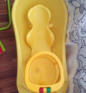 Детская ванночка+горка+стульчик