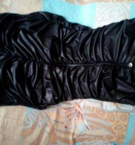 Платье экокожа