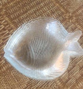 Тарелки в форме рыб 6 шт